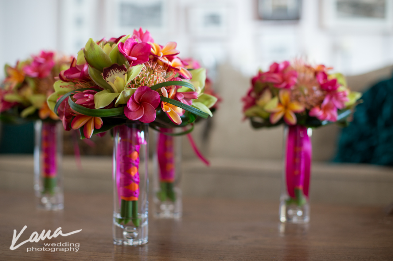 Kaua Wedding Photography  Plumeria Bouquet - Season: May - November