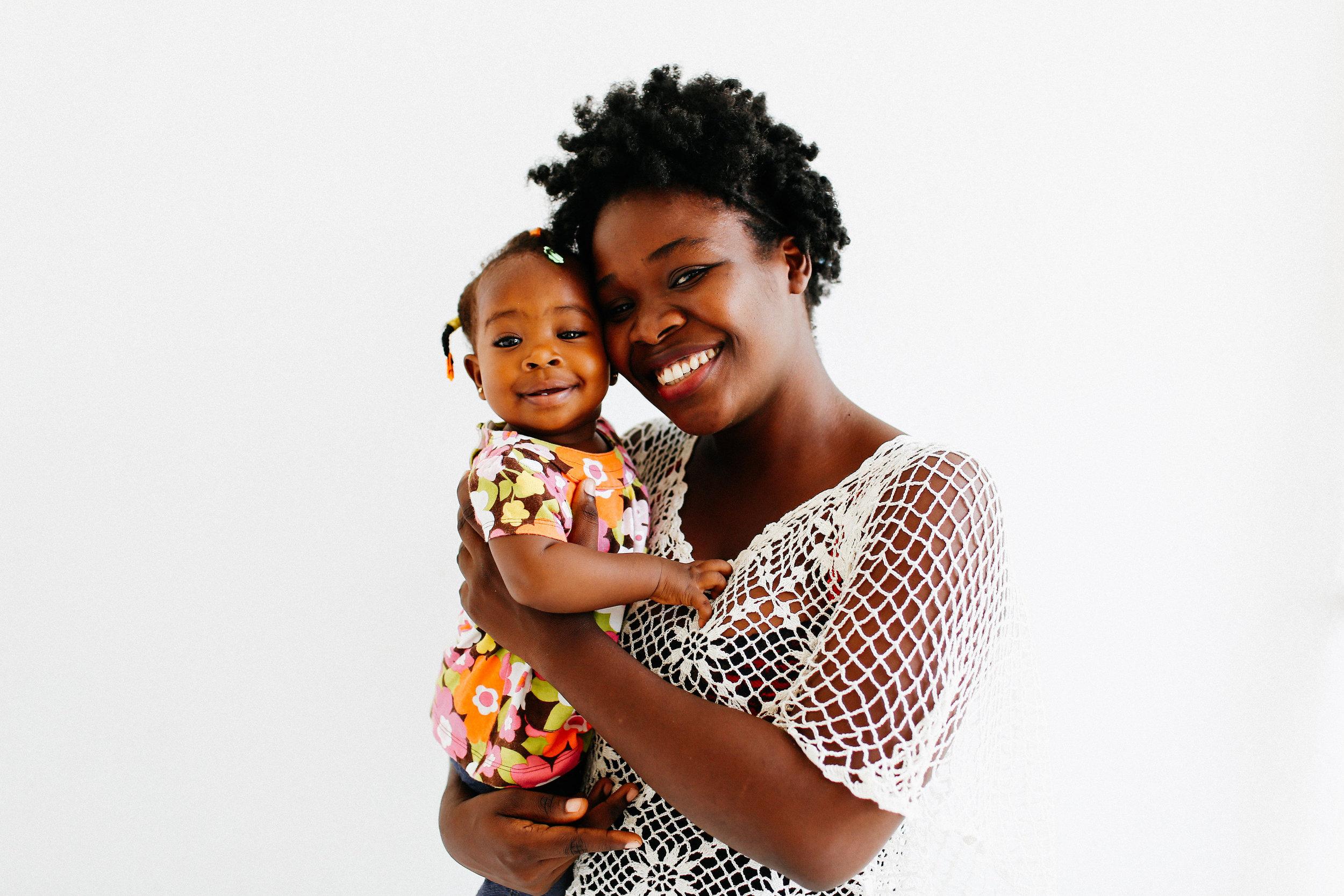 Darline, Jasper House Haiti Director of Education, and her daughter, Darayelle.