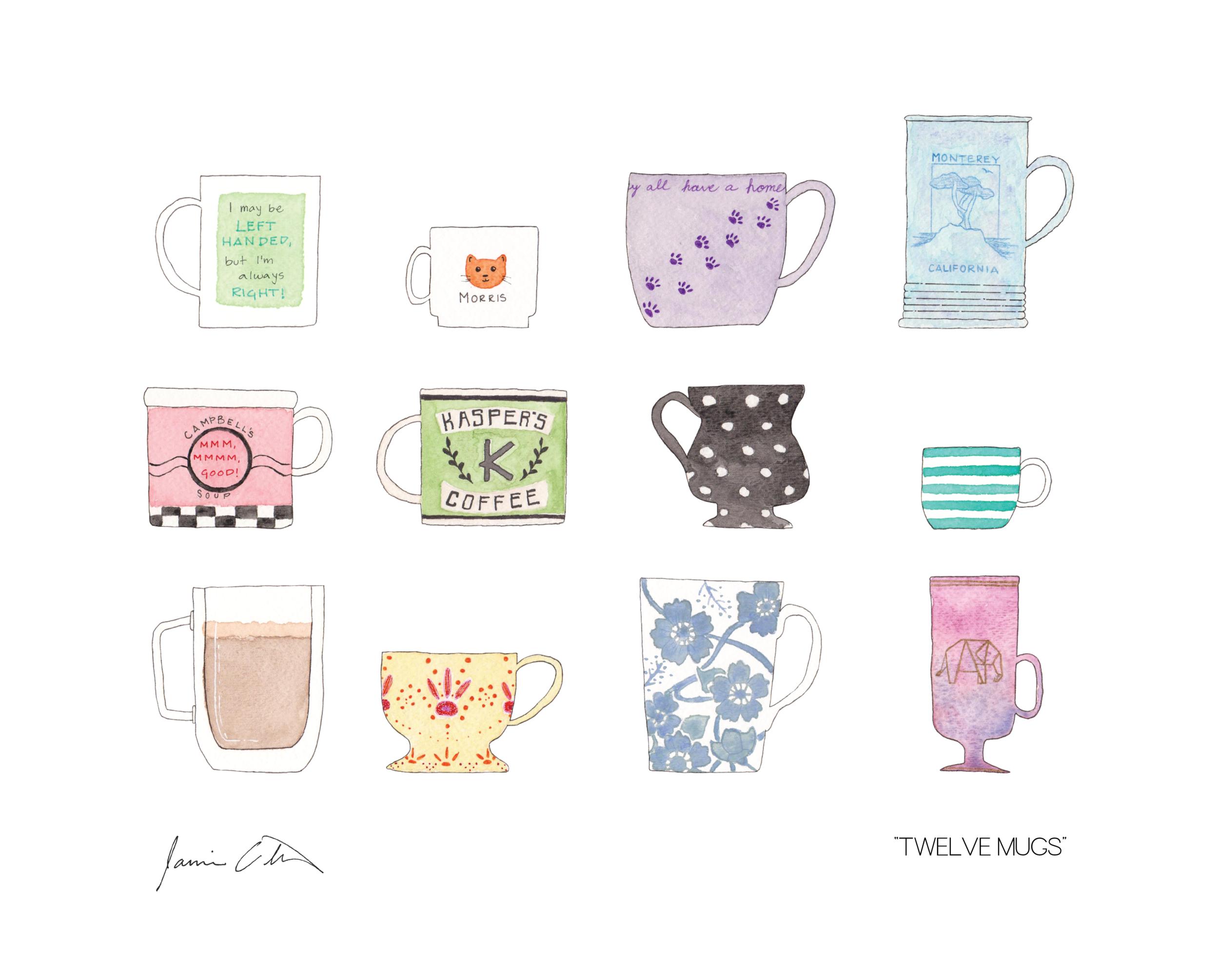 Twelve Mugs