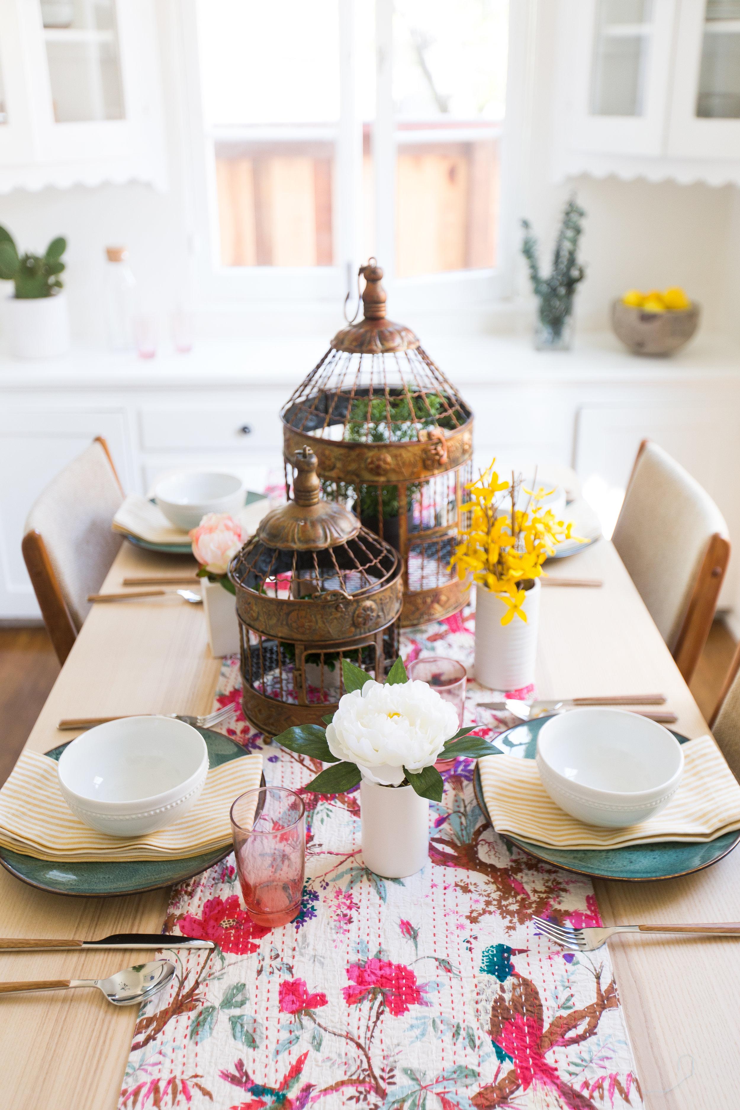 Spring Tablescape Design