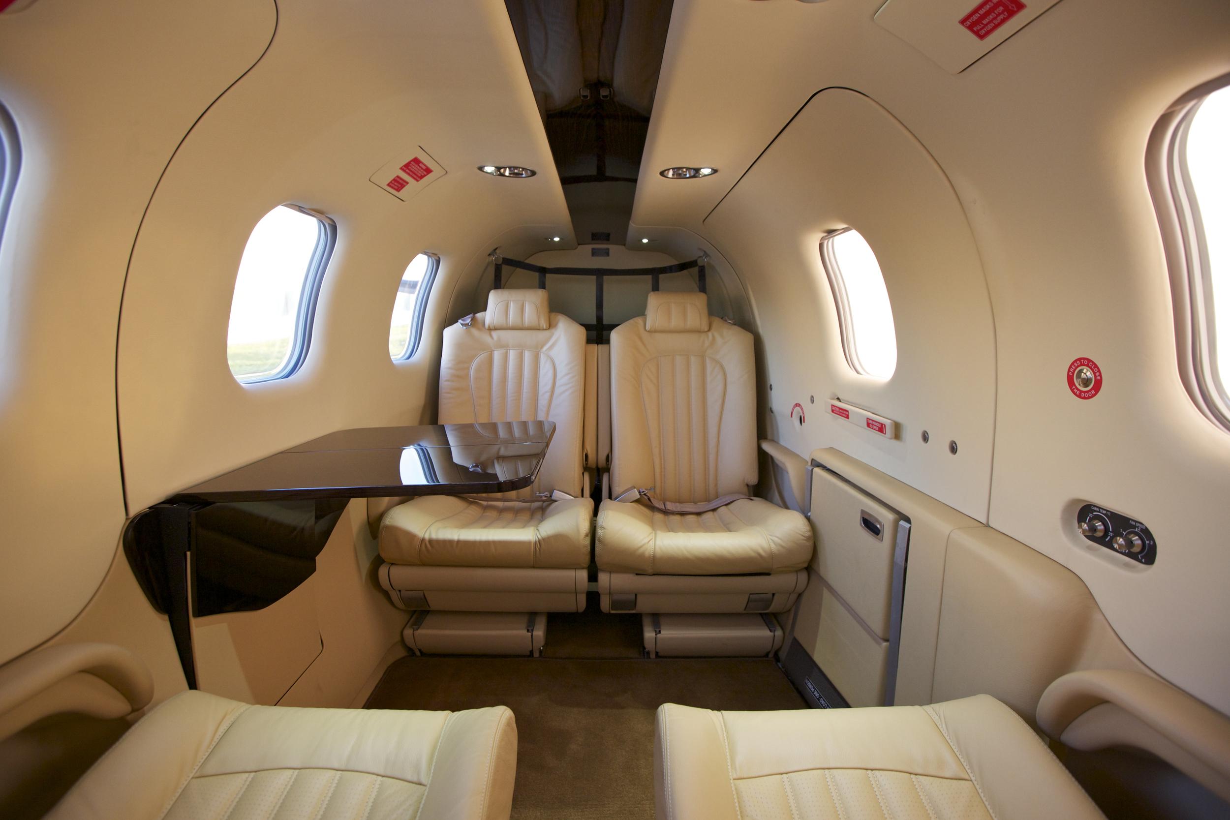 Spacious cabin class comfort & luxury