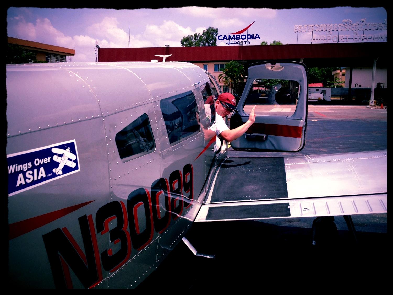 Malaysia-based Piper aircraft visiting Phnom Penh, Cambodia