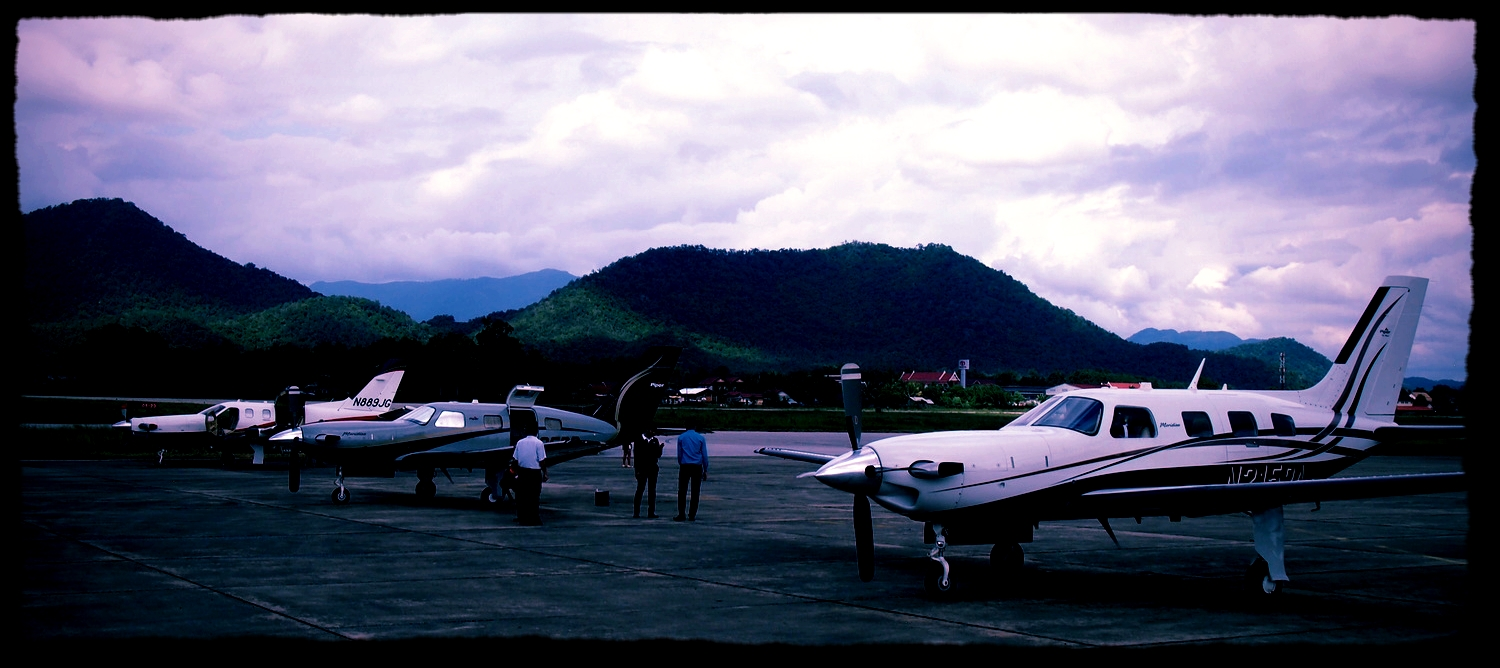Two Malaysia-based Piper Meridian turboprop visiting Vientiane, Laos