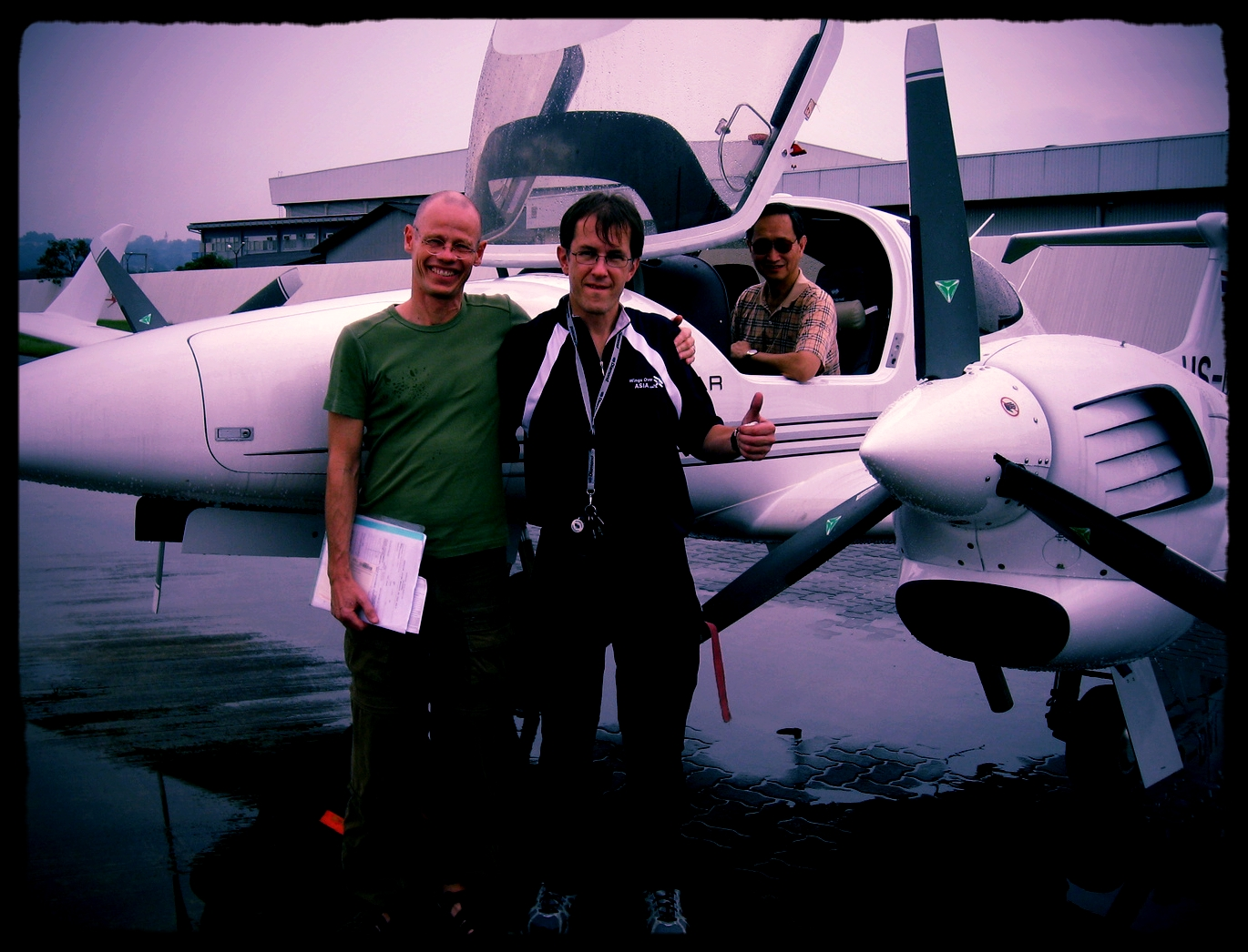 Thailand 1st DA42 and it's owner hanging out with friends.