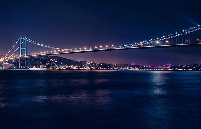 Beautiful İstanbul #istanbul #bosphorusbridge #nightphotography #by @cenkerdogan.photography