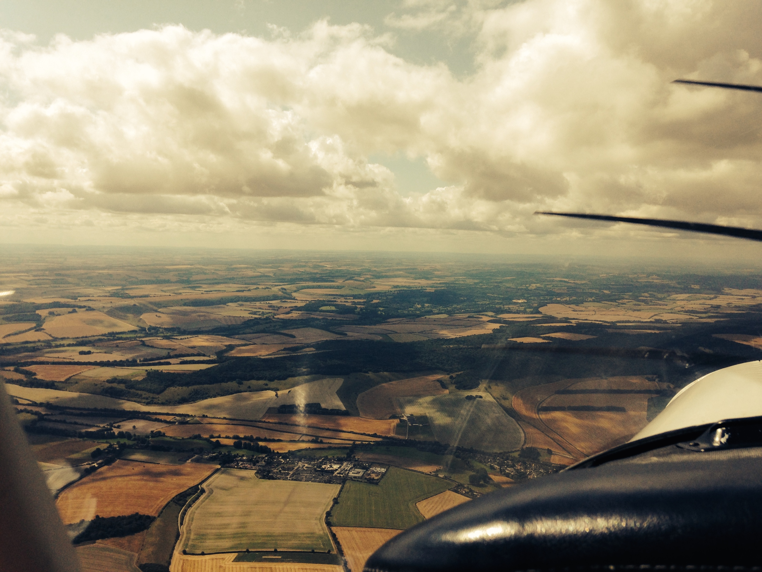 Flying lesson at London Elstree Aerodrome...