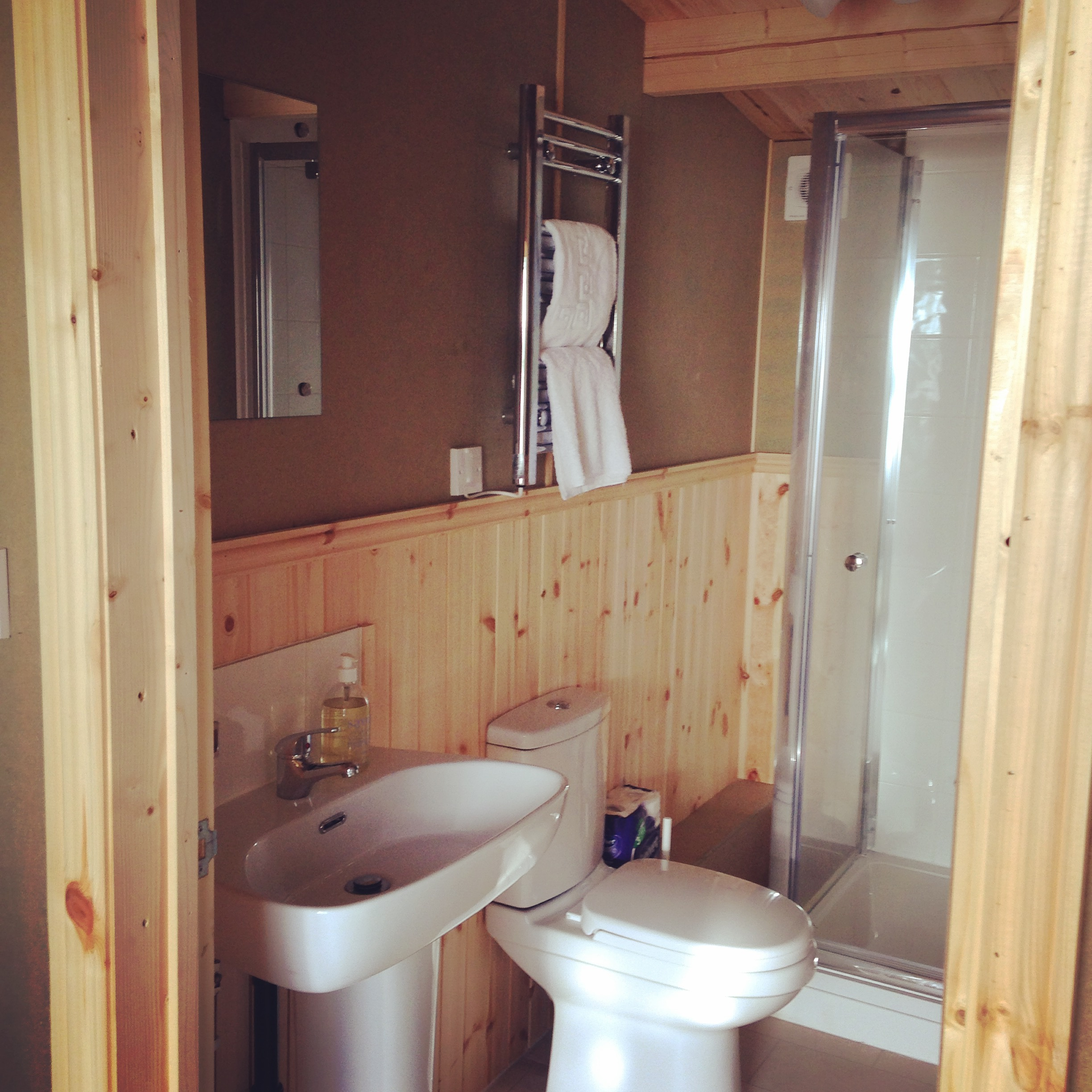 Glamping near London bathroom