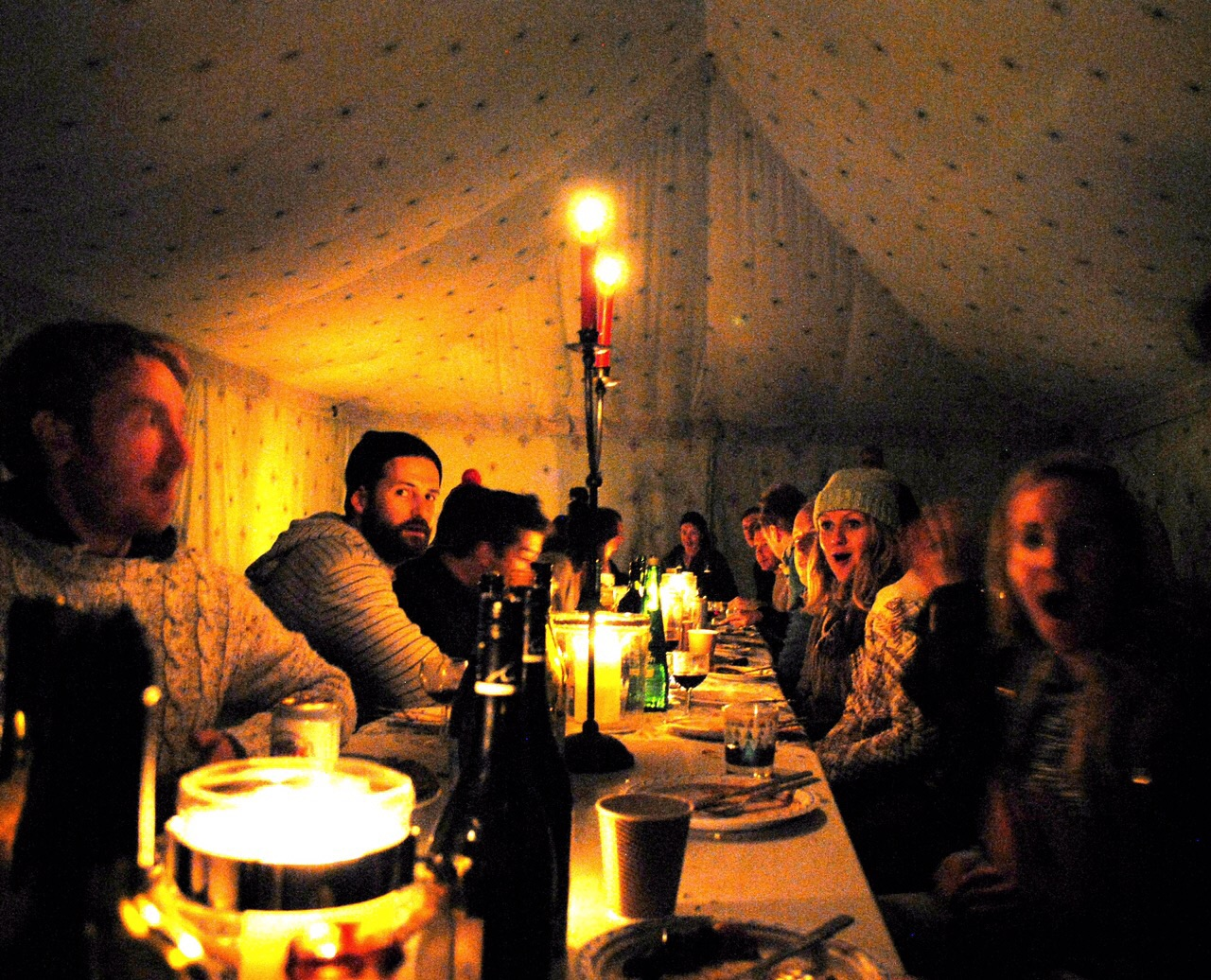Glamping near London party tent