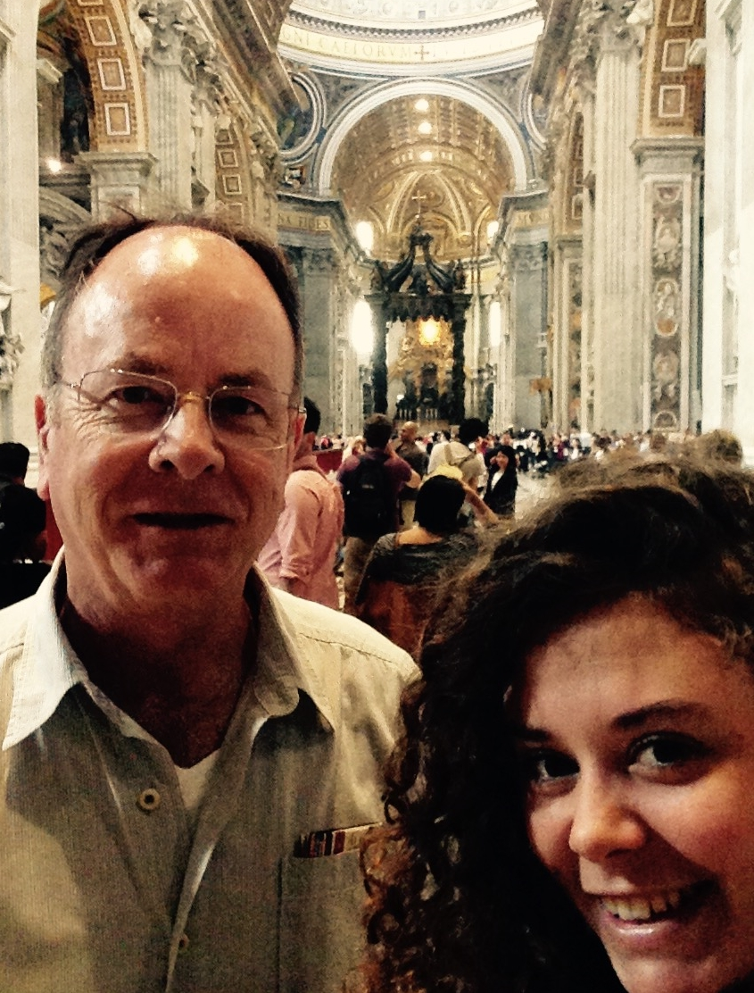 Jed and I inside St.Peter's Basilica!