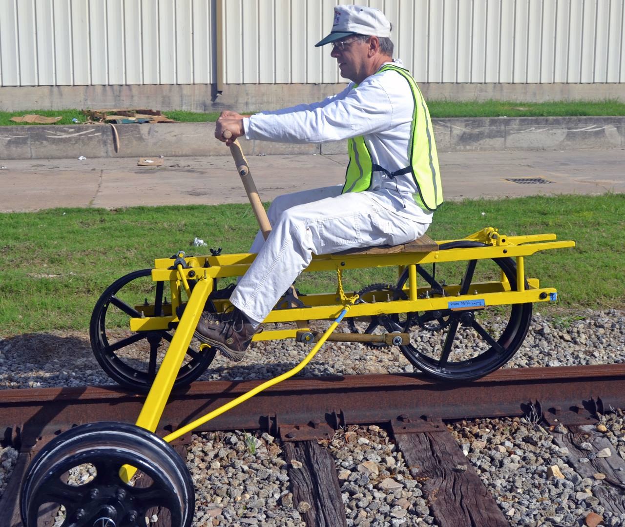 Russell Straw, RRM Board Member, and his Velocipede