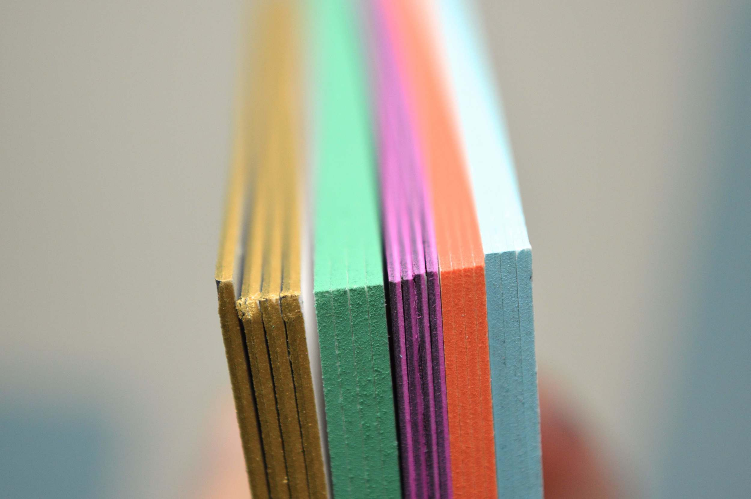 We can edge tint in any color ink. The thicker the better.
