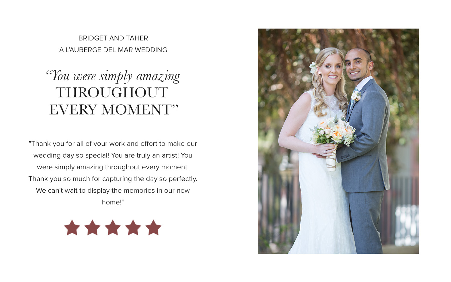 David Manning Photographer L'Auberge Wedding Review