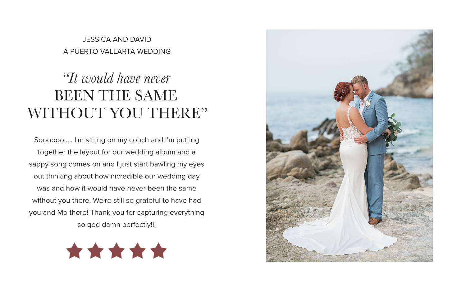 David Manning Photographer wedding review Puerto Vallarta