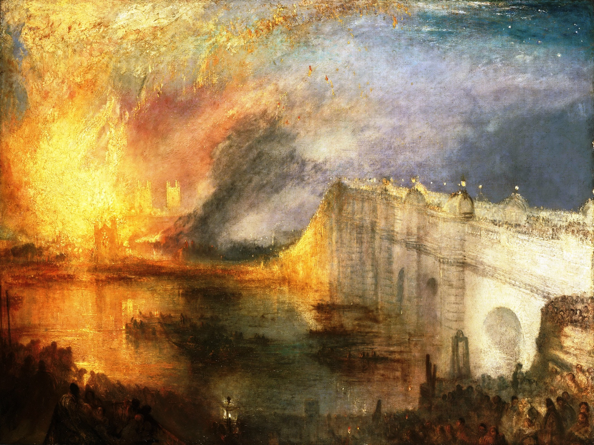 The Burning of the House of Lords and Commons, 16th October 1834 Joseph Mallord William Turner, Philadelphia Museum of Art