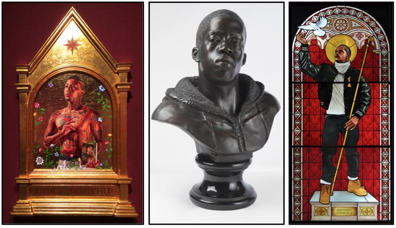 """St. Gregory Palamas"" Collection of Edward Tyler Nahem, New York / ""Houdon Paul-Louis"" Brooklyn Museum / ""Saint Remi""Galerie Daniel Templon, Paris"
