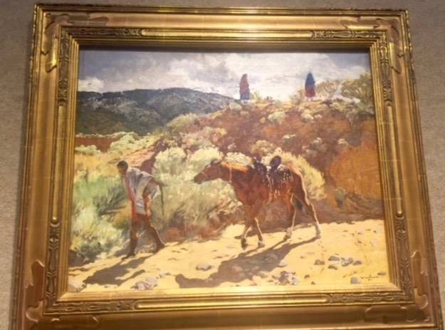 "Walter Ufer, ""Drilling Homewards"" Oil on canvas, 20 x 25"" Estimated $500,000-$700,000"