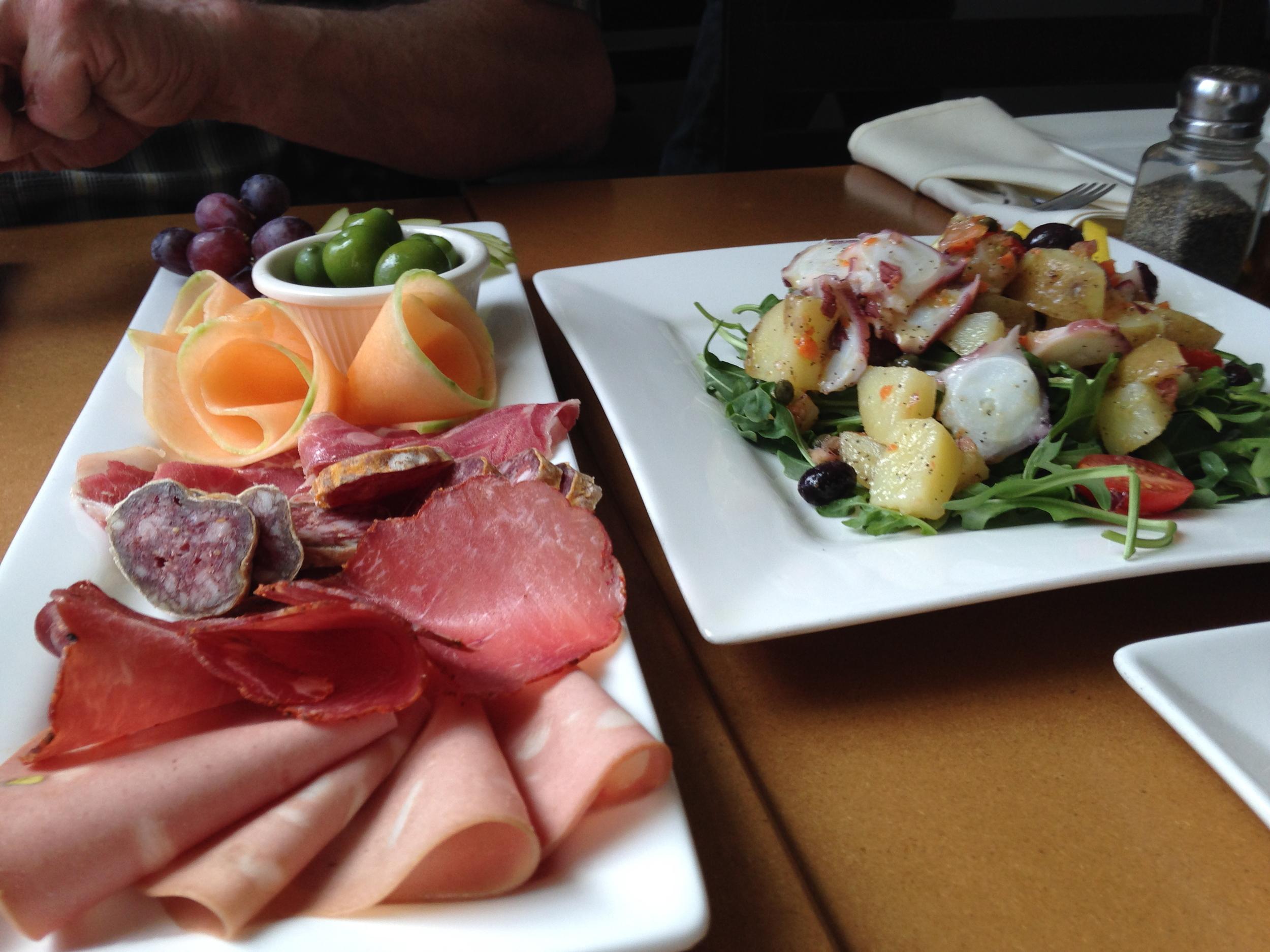 Charcuterie Board & Salad.