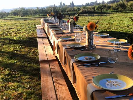 Farm to Plate Dinner on Sauvie's Island.