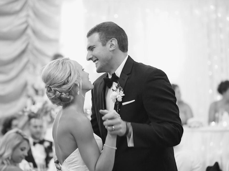 first-dance-emily-eric-may-wedding-hotel-julien-dubuque-iowa