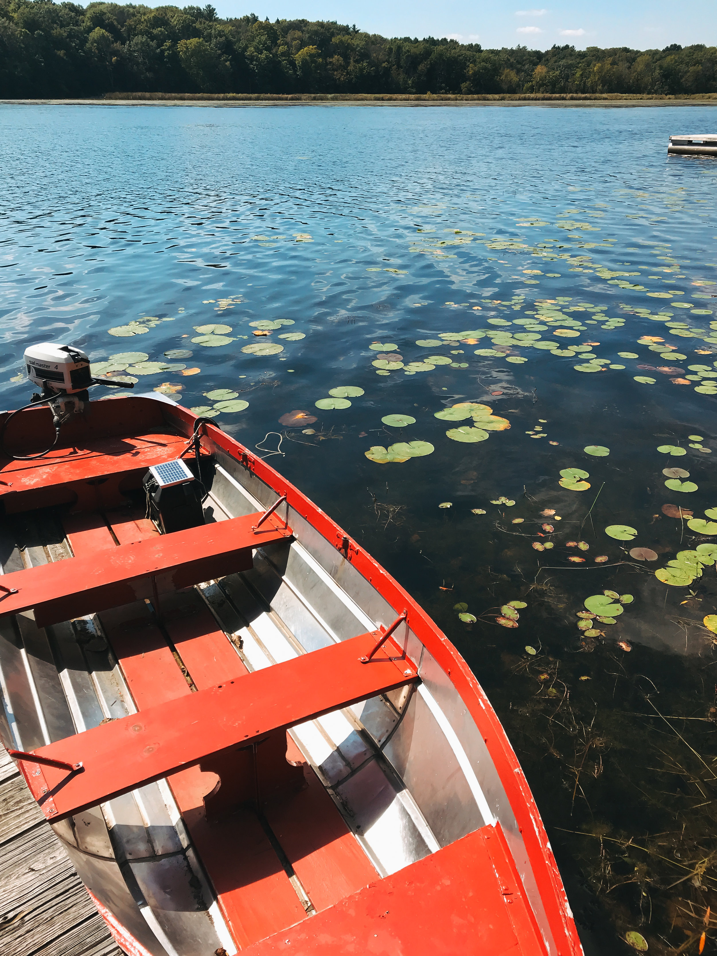 camp_wandawega_red_boat_lillies_water.jpg