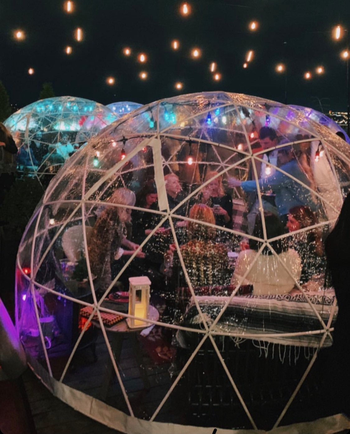 Igloos on the Bobby Hotel Rooftop. Click photo for link to purchase a ready made igloo kit.