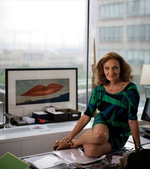 Diane in her office situated in the famous meat packing district in New York