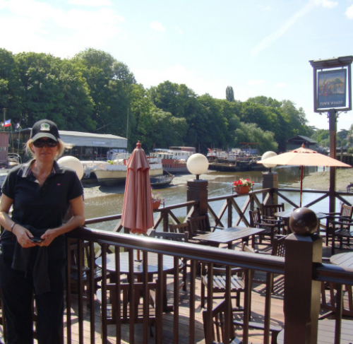Two famous pubs need sidestepping if one is to reach your destination; the London Apprentice followed shortly by friendly greetings of the locals at The Town Wharf. (photo - worklondonstyle)