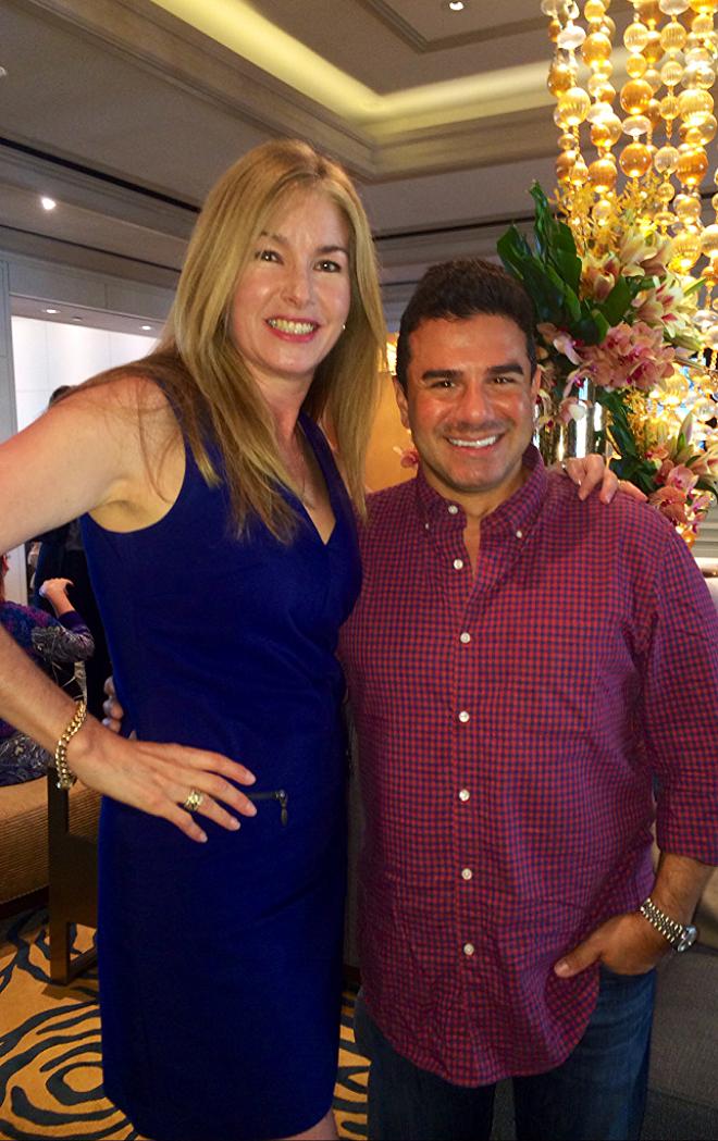 With fellow celebrity stylist Sam Saboura at Ritz Carlton Marina del Rey in LA.