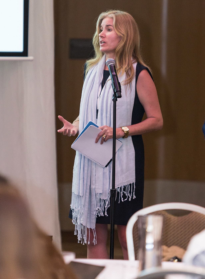 Speaking to an international audience at the Shangri-La hotel in Sydney, Australia.