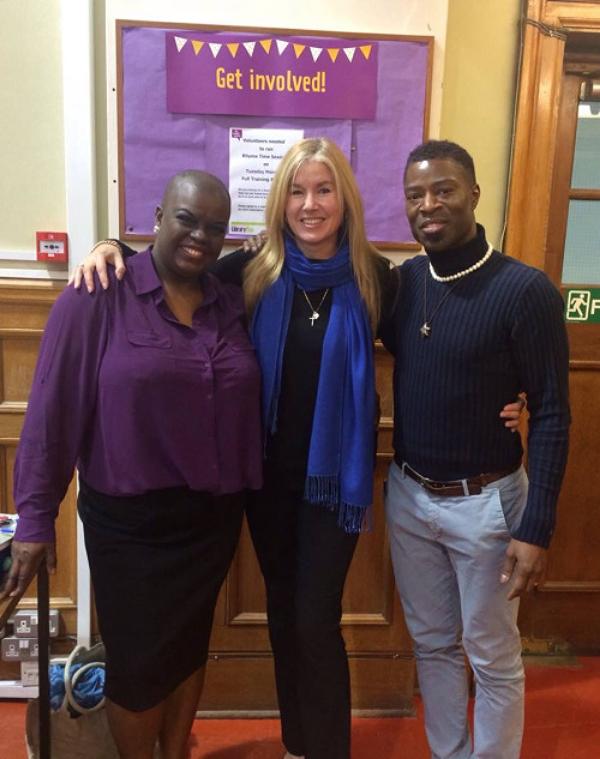 With Aprils Dawn and Dr. Diepiriye Kuku-Siemons (photo - worklondonstyle)