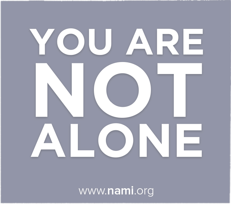 NAMI Waukesha You Are Not Alone Image