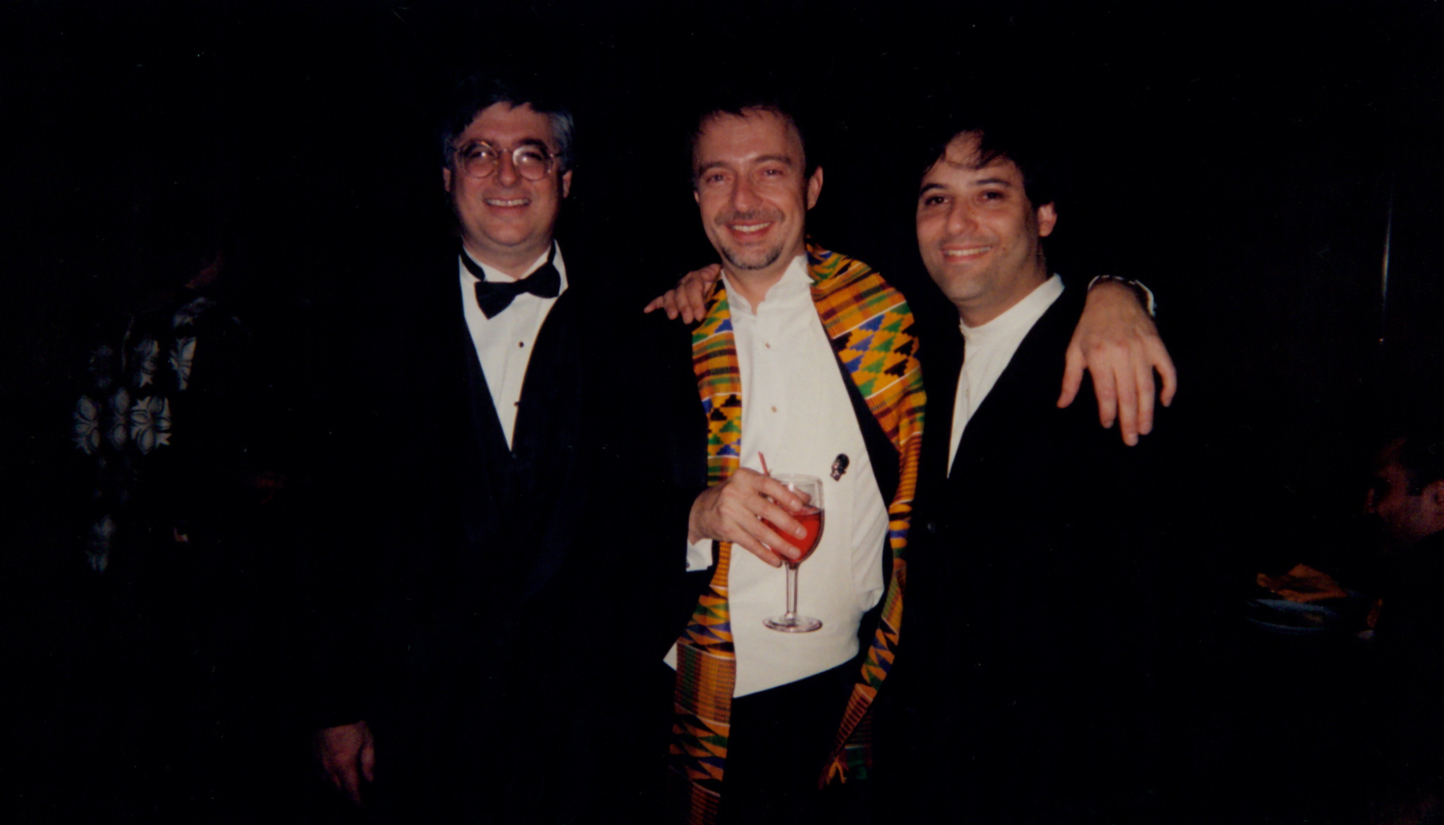 Opening night with orchestrators Dave Metzger and Bob Elhai.jpg