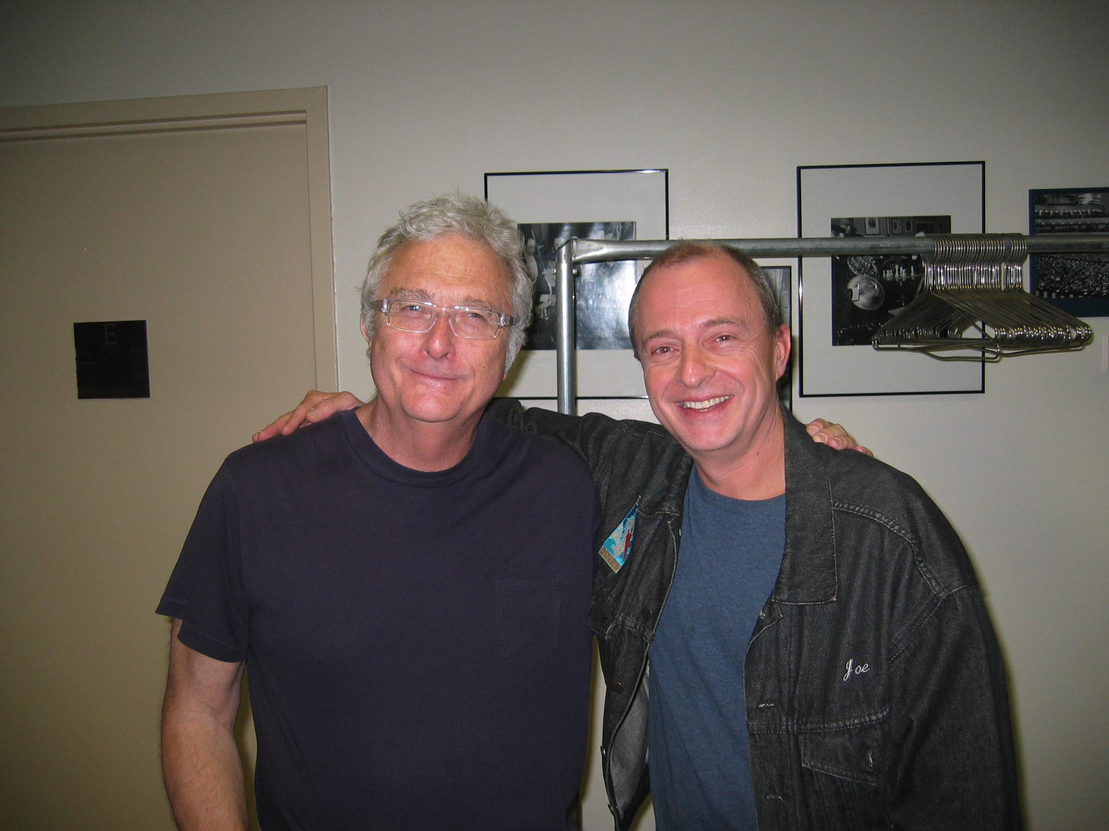 Joe and Randy Newman backstage at Carnegie Hall.JPG