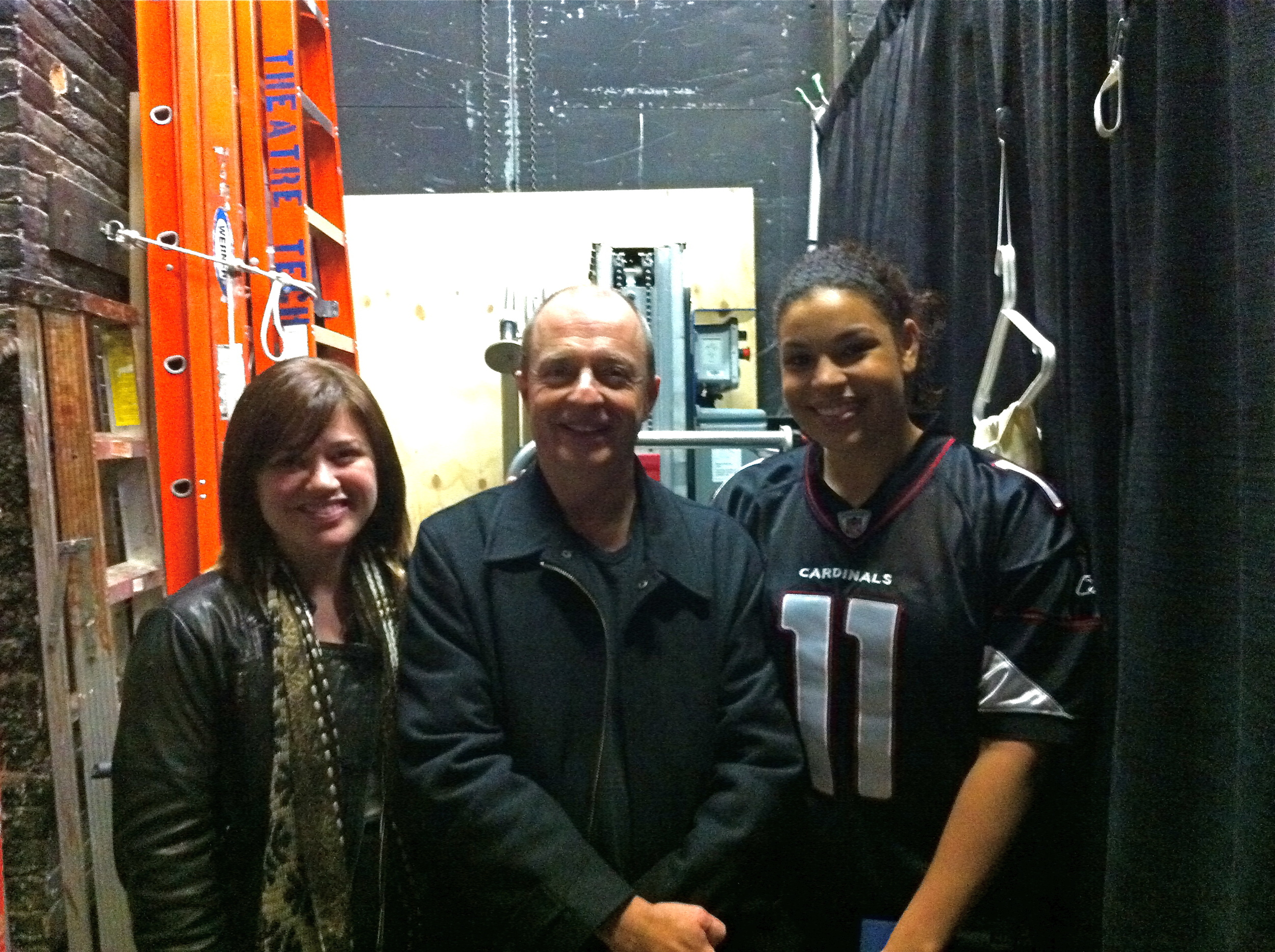 Joe, Kelly, and Jordin backstage at In The Heights.JPG