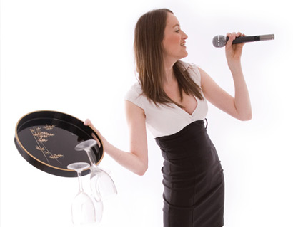 singing waitress