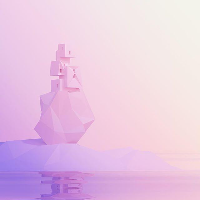 Modern House / Pastel Island . . . . #cinema4d #c4d #maxon #octane #octanerender #otoy #photoshop #adobe #3d #cg #digitalart #dailyrender #daily #render #graphics #design  #abstract #minimalart #instaart #mgcollective #mdcommunity #rsa_graphics #thegraphicspr0ject #cgsociety #gsgdaily #xuxoe #vsco #vscoart #lowpoly