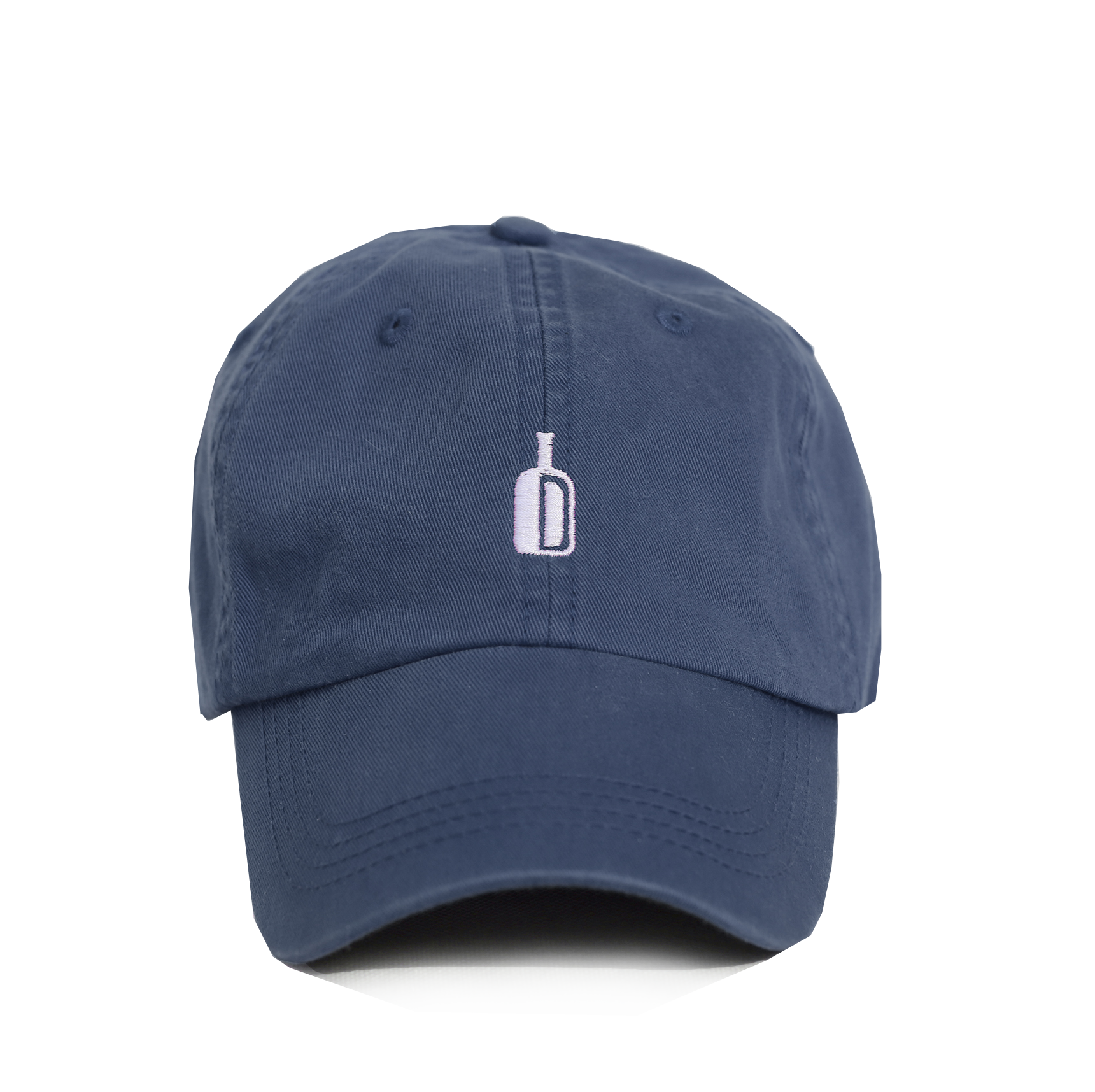 DIXIE RESERVE WHISKEY BOURBON HAT 90 PROOF NAVY