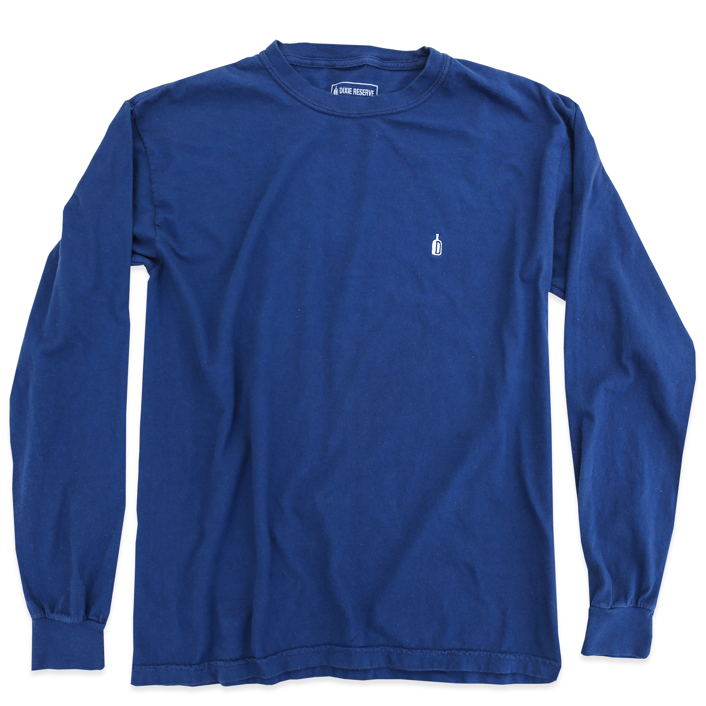 DIXIE RESERVE 90 PROOF LONGSLEEVE LS TEE NAVY BOURBON WHISKEY