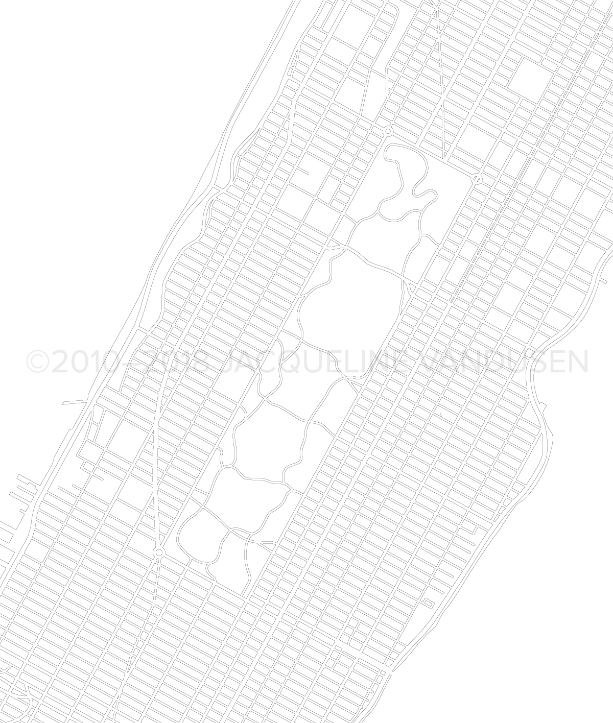 Manhattan Map (Close-up of Central Park)