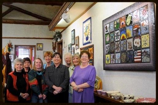 Left to right: Shirley Barhaug, Linda Gates, Cheryl LaPay, Jackie Wilder, Penny Rundstrom, Jane Kellogg, Lynn Mowery, Carla Solberg. Not present Linda Jessen.