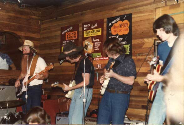 Bob Gulley, Bro Bob, Me and Larry Hansen (Alabama) jamming at The Beach Ball, Newport Beach, CA. This club is where I went to rock & roll boot camp at the age of 19 in 1978.