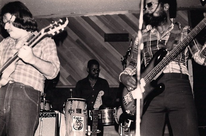 """Sea Level, consisted of three of the former Allman Brothers, Jaimoe Johnson, Lamar Williams and Chuck Level at the time."" Photo: Mike with Jaimoe and Lamar Williams"