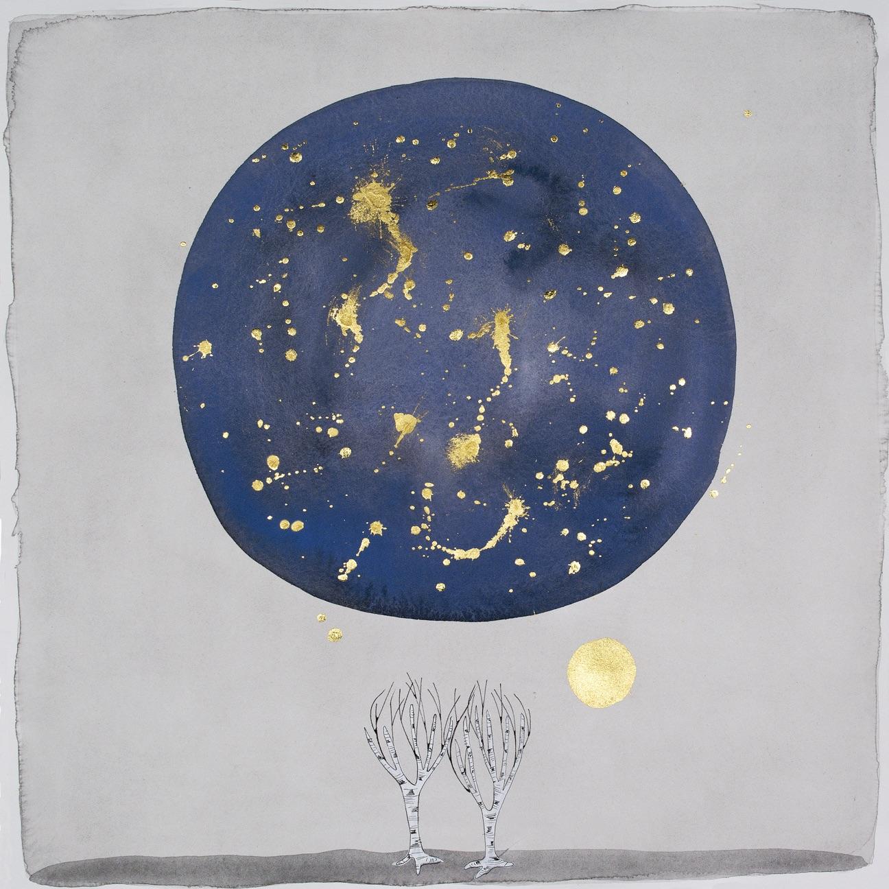 """the moon, """"at night"""""""