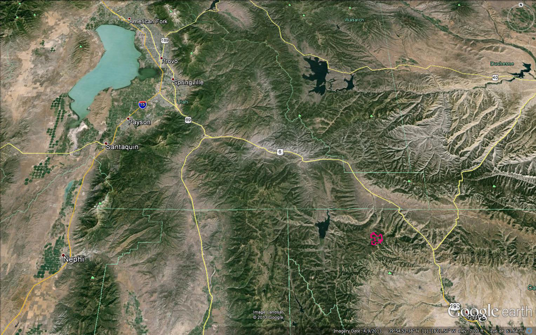 Overview Map - Proximity to Provo, Ut