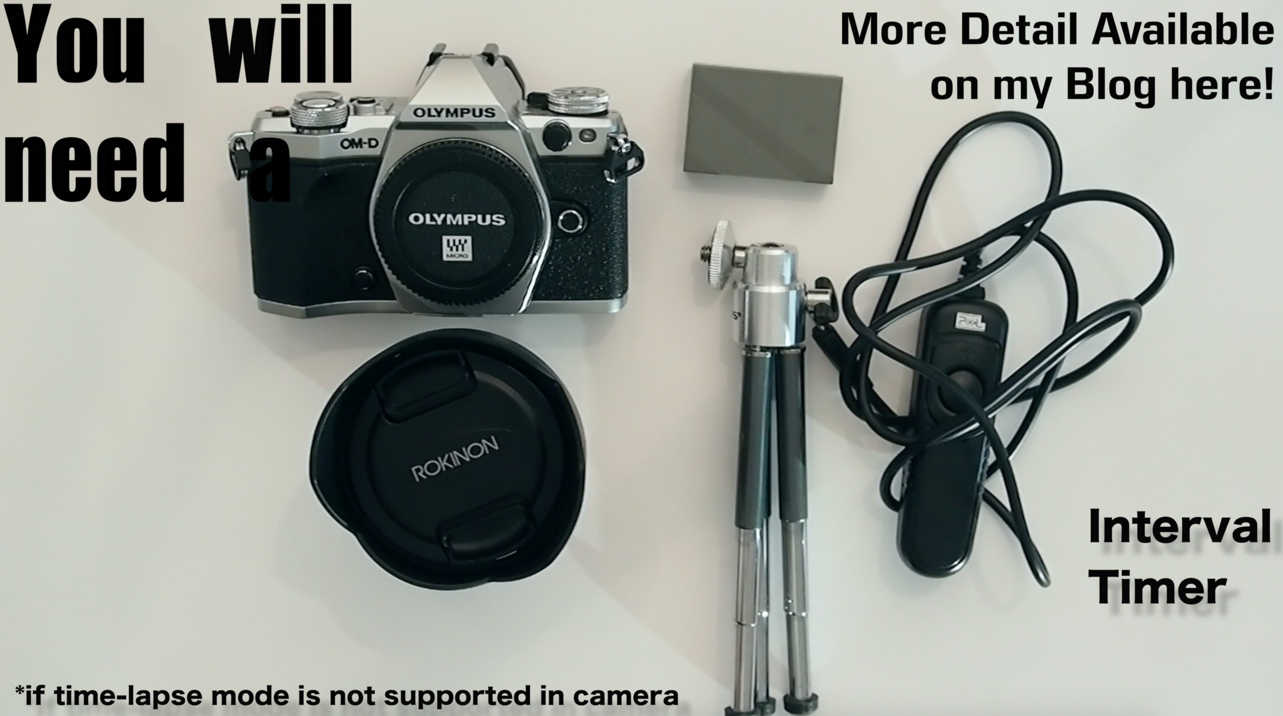A screenshot of the instructional video of the generic things you will need.