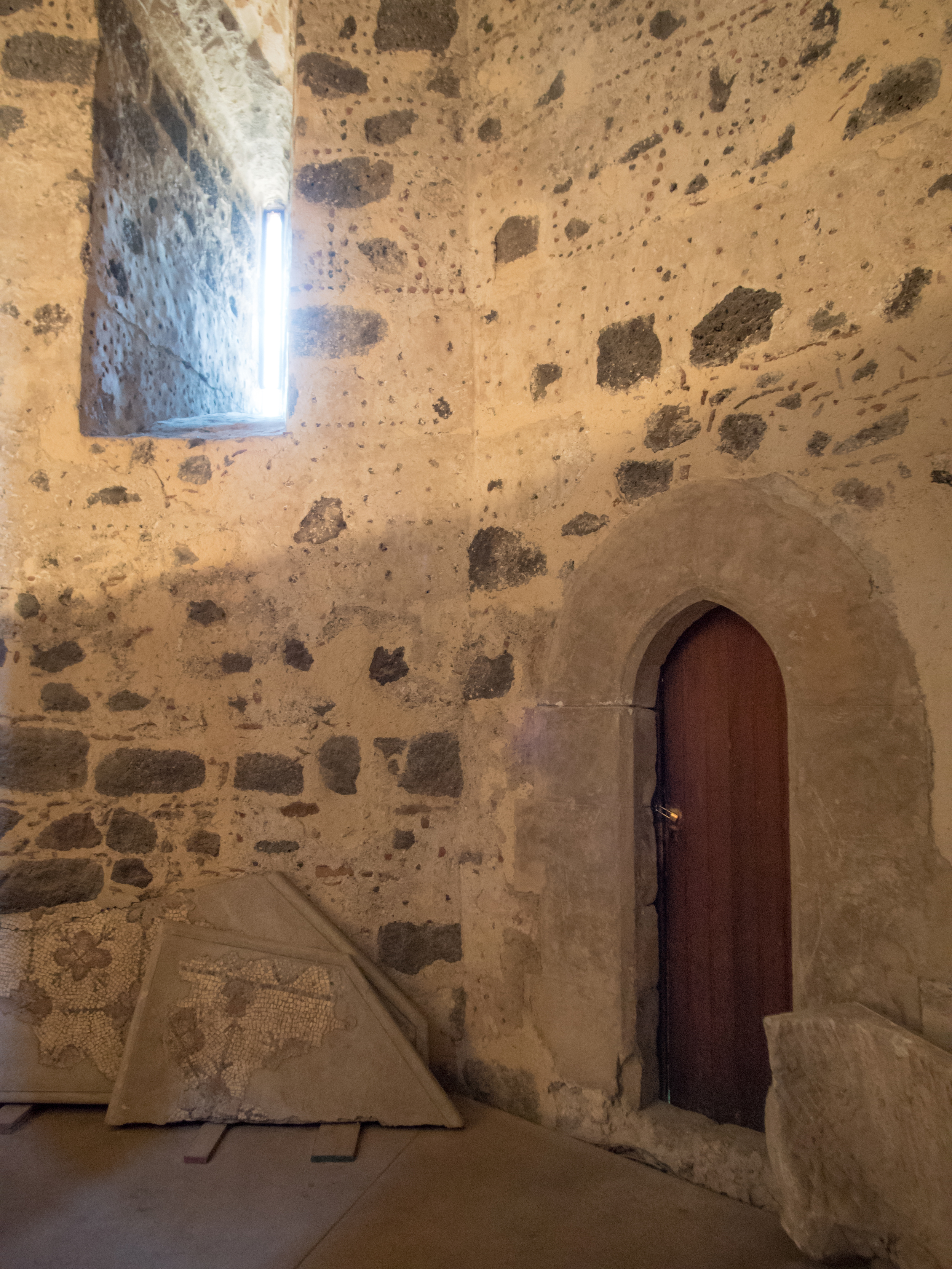 inside one of the old castle walls
