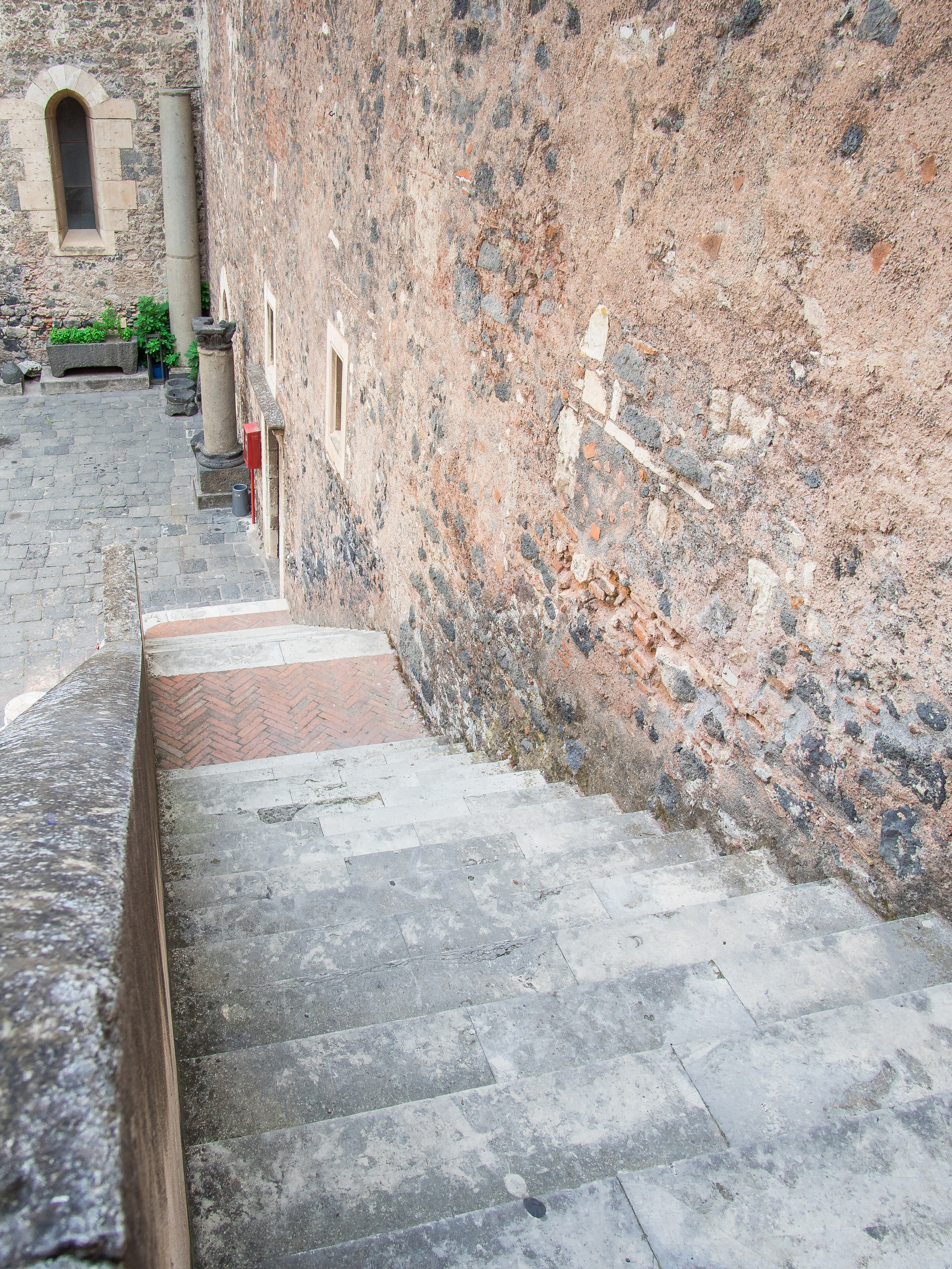 stairs to the courtyard