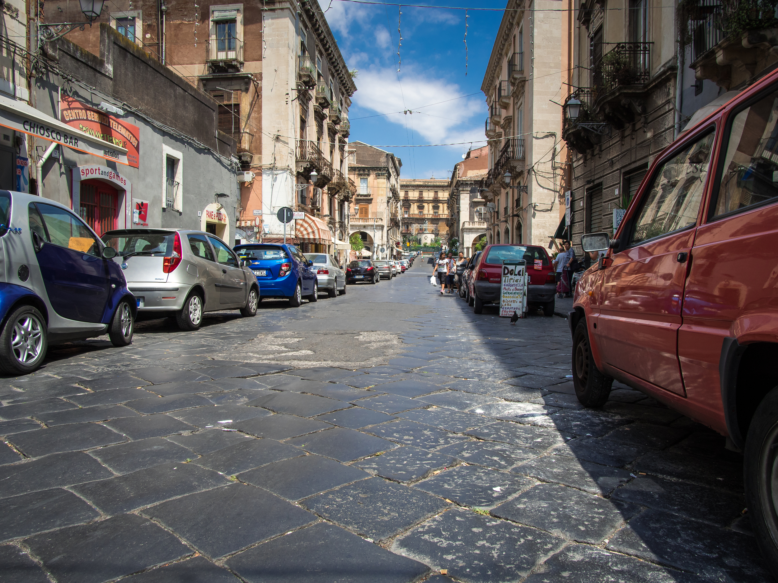 more typical Catania street