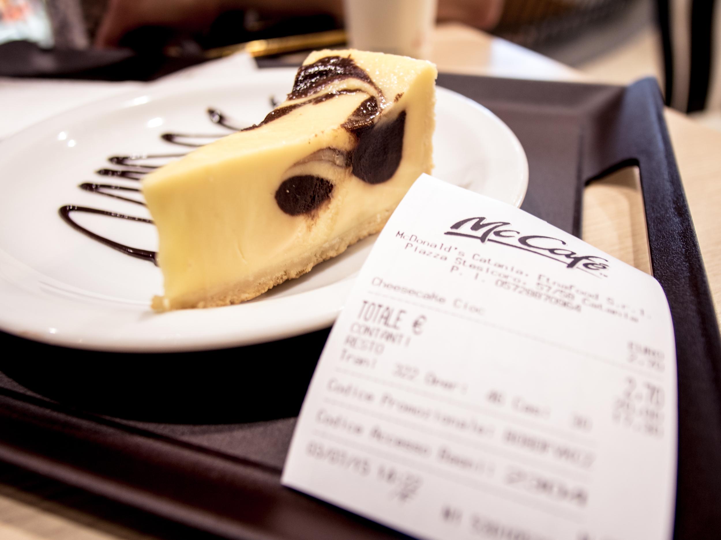 McDonalds cheesecake... yup