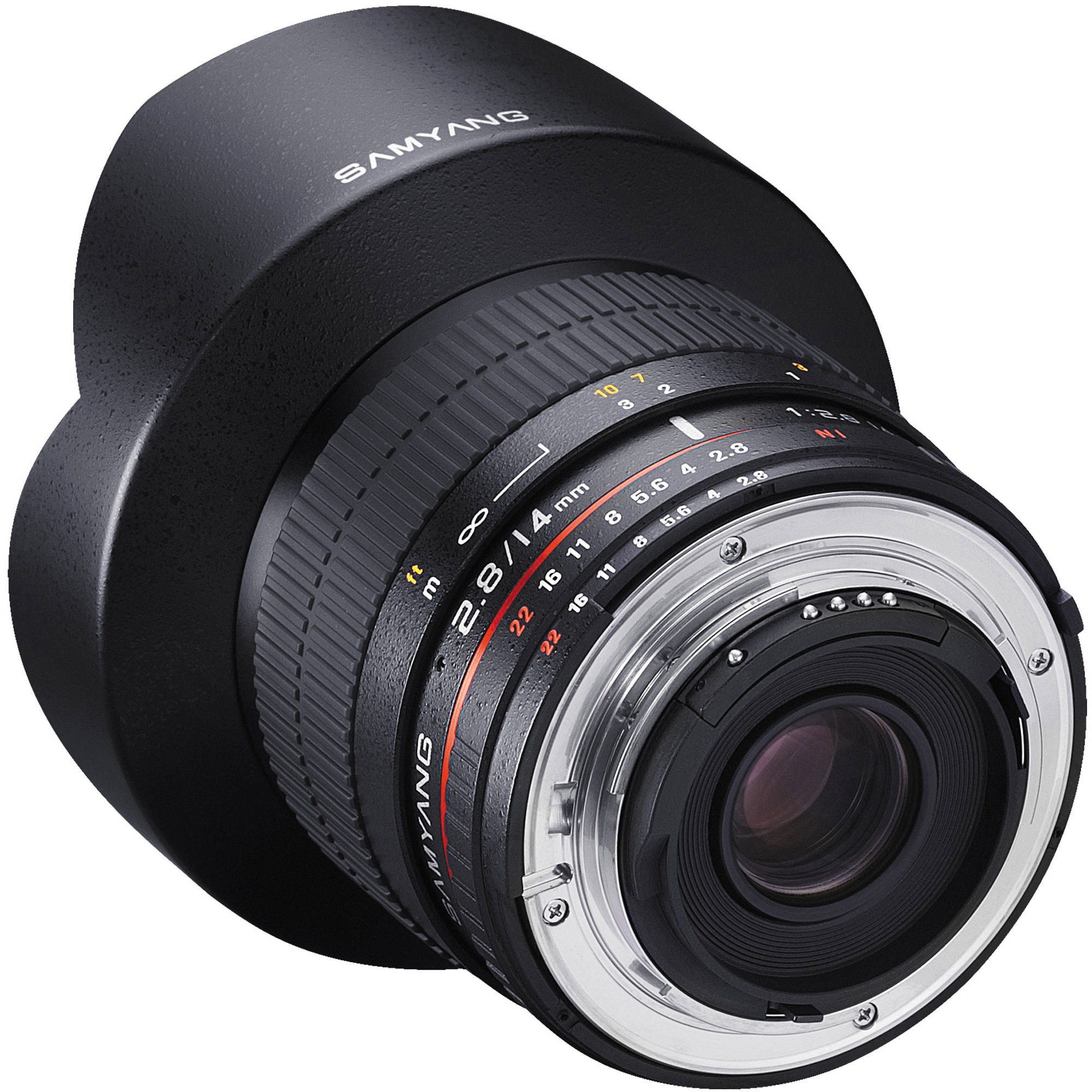 Samyang's model of the same lens with the mount shown.